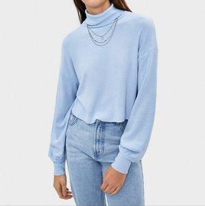 NWT - Bershka Light Blue Turtleneck Sweater